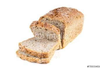 Pain au blé complet en tranches
