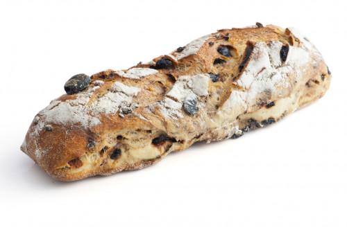 Baguette de pain aux olives